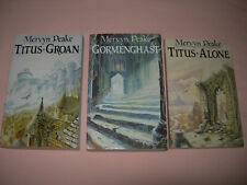 Gormenghast Trilogy Titus Groan Titus Alone Mervyn Peake 3 Volume Set