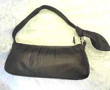 Cellini Original Brown Lamb Skin Genuine Leather Wristlet Clutch Bag Handbag