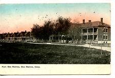Military Base Housing-Fort Des Moines-Iowa-Vintage 1910 Postcard