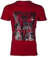 Armani Exchange AN-19 Mens Designer T-SHIRT Premium RED Slim Fit $45 NWT