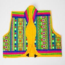 Ethnic traditional jaipuri embroidery multi color koti/jacket - size Large