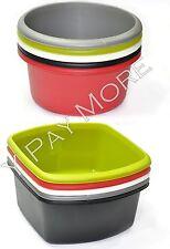 Plastic Circular / Rectangular Baking Mixing Salad Washing Up Bowl Basin Kitchen