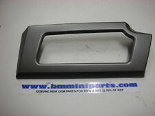D BMW e60 e61 CROMO QUADRO-ring per menu INTERRUTTORE-acciaio inox lucidato