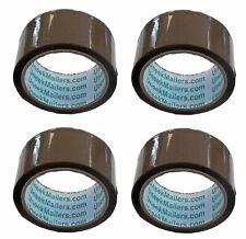 4 Rolls Carton Sealing Brown Packing Shipping Box Tape 2 X 55 Yards