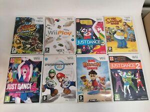 Wii Bundle Games Just Dance 2, 3, 4 Mario Kart Mario Strikers Charged Football
