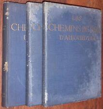 1912 LES CHEMINS DE FER ALLEMANDS D'AUJOURD'HUI complet 3 volumes TRAIN