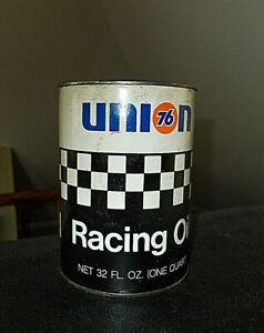 VTG ORIG. UNION 76 RACING MOTOR OIL CAN FULL~SAE 40~NASCAR INTERNATIONAL