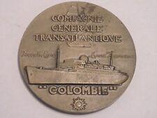 MEDAILLE MEDAL COMPAGNIE GENERALE TRANSATLANTIQUE COLOMBIE