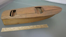 """Vtg Wood Chris Craft Runabout 17.5"""" Model Boat Found With Gas Engines & Rc Parts"""