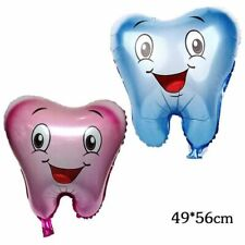 Tooth foil balloon tooth fairy teeth pink blue