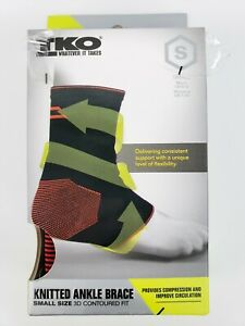 TKO Knitted Ankle Brace 3D Contoured Fit Unisex Size S Womans 7-10 Mens 6-9