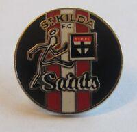 33791 ST KILDA SAINTS AFL FOOTBALL HERITAGE RETRO PIN BADGE