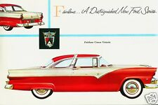1955 Ford CROWN VICTORIA Coupe, Refrigerator Magnet, RED/WHITE, 40 MIL