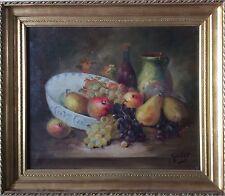 Nature Morte Poires Et Raisins Signée Gardel P°E Gardel Leiser 1866-1964 Cotée