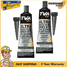 2 RTV Grey Silicone High Temp Gasket Maker Sensor Safe Sealant Water Oil Resist