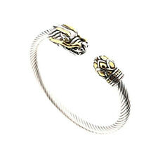 Cable Cuff Bracelet ~ Unisex ~Exotic Stunning Dragon Head Twisted