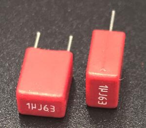 3 pcs / 1 lot - Genuine WIMA MKS2 Capacitors for Audio - 1uF - 63VDC