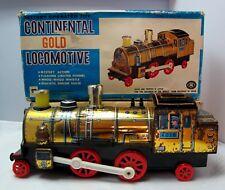 Vintage Modern Toys Japan 4197 Continental Gold Locomotive Tinplate Boxed (2585)