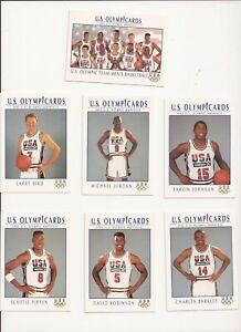 1992 US OLYMPIC DREAM TEAM (11) CARD SET ~ MICHAEL JORDAN ~ BIRD ~ MAGIC ~ QTY