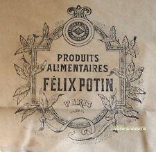 RARE ancien SACHET Produits Alimentaires Félix POTIN PARIS - Grand modèle