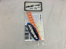 deBeer Women's Gripper Pro Stringing Kit Orange & White New (Lax125) Ihh