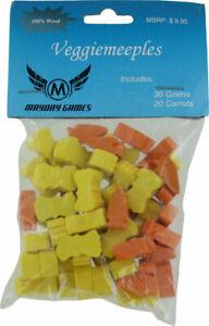 Agricola Veggiemeeples (30 Grain and 20 Carrot Tokens)