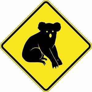 Koalas Crossing Ahead Traffic Sign 750x750mm Aluminium Class 1 Reflective