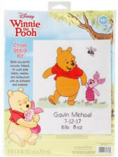 Winnie The Pooh Birth Record Counted Cross Stitch Kit Dimensions 35357