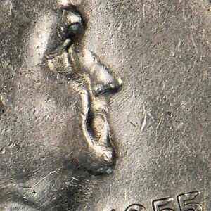 1955 50c Franklin Silver Half Dollar - Bugs Bunny Variety - SKU-H1411