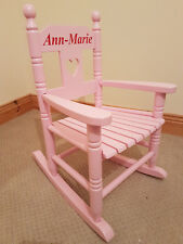 Childrens Personalised Rocking Chair Pink