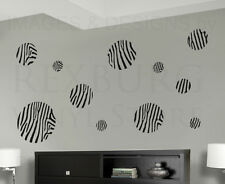 Zebra Pattern Circle Mural Wall Decal Vinyl Sticker Art Decor Decoration G53
