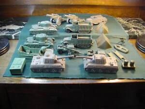 Vintage Plastic 1960's Marx Army Battleground Play Set Tanks Transport Misc