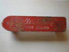Vintage 1960s Roller Derby Wood Skateboard; Metal Wheels Trucks