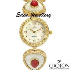 US$375 CROTON Gorgeous Ladies Dress Watch Mother-of-Pearl & Created Corals