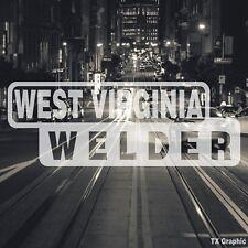 West Virginia Welder Welding Decal Vinyl Sticker Electric Arc Stick Dc Tig Mig