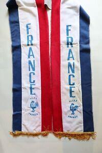 FFF FRANCE 1980s 80s FOOTBALL SOCCER SCARF BUFANDA ALLEZ VINTAGE RARE EURO 1984