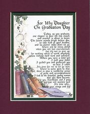 #139 Gift Present Keepsake Poem for a daughter's graduation day