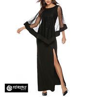 Vestito Donna Maxi Abito Lungo Spacco Feste Cerimonia Woman Party Dress 110430