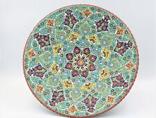 Persian enamel Pottery dish plate Enamelling, miniature, Mina,Minakari Wall Hang