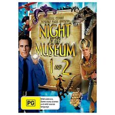 NIGHT AT THE MUSEUM 1 & 2-Robin Williams Ben Stiller-Region 4-New and Sealed