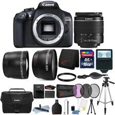 Canon EOS 1300D 18MP DSLR Camera with 18-55mm Lens and 16GB Top Accessory Kit