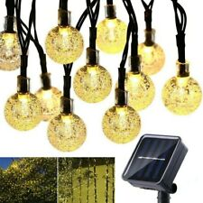 Solar String Lights Outdoor 50 LED 7FT Power Waterproof Crystal Ball Fairy/Twin-