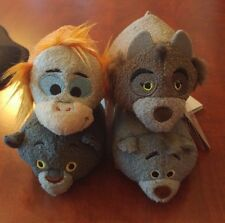"New Disney Store Tsum Tsum Plush The Jungle Book Mini 3 1/2"" Lot of 4 Baloo Plus"