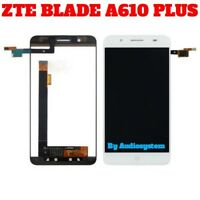 """DISPLAY LCD+TOUCH SCREEN PER ZTE BLADE A610+ A610 PLUS 5,5"""" BIANCO VETRO NUOVO"""