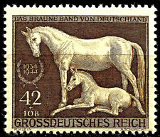 III REICH, HORSES, BROWN RIBBON RACE, MICHEL # 899, YEAR 1944, MNH, LOT 3176