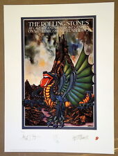 ROLLING STONES - LITHOGRAPH - 1973 - CARDIFF CASTLE - TOUR POSTER - MICK JAGGER