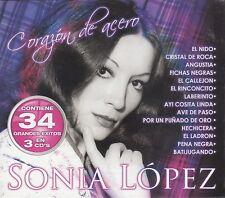 Sonia Lopez Corazon de Acero 34 Exitos 3CD New Nuevo BOX SET