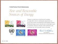 United Nations Scott #NY 20, Mint Card, 5/29/81