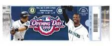 Seattle Mariners 2010 Opening Day Unused Ticket Stub