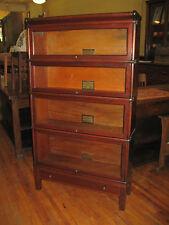 Globe Wernicke Mission Era Solid Mahogany 4 Stack Barrister Bookcase Book Shelf